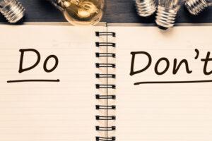 do and donts membuat cv